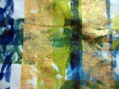 4 by janelafazio, via Flickr Gelli plate mono print on muslin