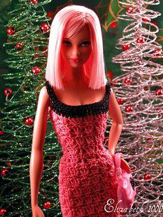 modern christmas barbie