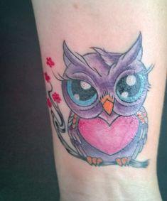 40 Cute Owl Tattoo Design Ideas // May, 2020 Sexy Tattoos, Owl Tattoos, I Tattoo, Tatoos, Owl Tattoo Design, Tattoo Designs, Cute Owl Tattoo, Cherub Tattoo, Owl Photos