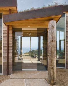 love this entry,bushpoles ,lines ,glass,open Dani Ridge House - contemporary - entry - san francisco - Studio Schicketanz