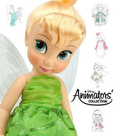 """Disney Animators' Collection Tinker Bell Doll - 16"""""""