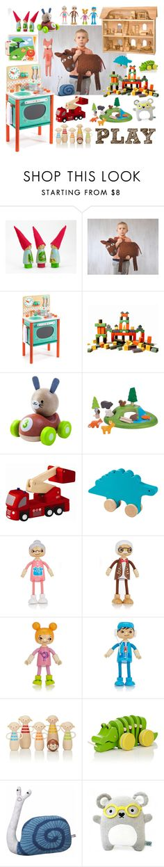 """""""play"""" by blumberg ❤ liked on Polyvore featuring interior, interiors, interior design, home, home decor, interior decorating, Djeco, Dollhouse, PlanToys and Hape"""