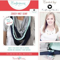 Hazel and Ruby - Crafternoon Collection - Kits - Jersey Knit Scarf