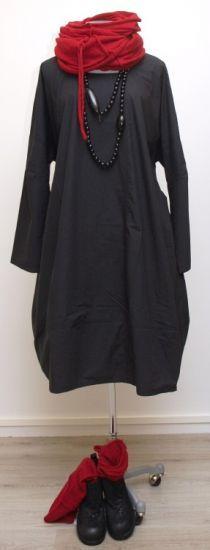 barbara speer - Ballonkleid Cotton mit Reißverschluss black - Winter 2015