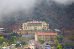 Jerome Grand Hotel , Jerome Arizona. I took this picture from the old Jerome Cemetery.