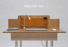 This space saving work desk for two transforms into a dining table big enough for six people. It's a great piece of convertible furniture for small spaces. Folding Furniture, Design Furniture, Geometric Furniture, Oval Table, Dining Table, Dining Room, Desk For Two, Expandable Table, Space Saving Desk