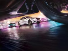 """Ride the Neon Tiger with Andreas Hempel's new series for BMW, a worldwide campaign roaring off your screen with ultra-low-angle burning rubber, electric coloured flares and extravagant videogame styling fireworks! The idea of the """"Neon Tiger"""" look was t… Automotive Photography, Car Photography, Car Images, Car Photos, Digital Light, Bmw M2, Corporate, Car Posters, Car Advertising"""