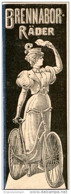 Original-Werbung/Inserat/ Anzeige 1899 - BRENNABOR FAHRRÄDER - ca. 160 x 45 mm