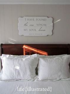"""I have found the one whom my soul loves"" sign"