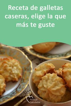 Do you know any homemade cookie recipe? Today we bring you three great recipes so that you surprise all your guests. Recipe For 4, Recipe Today, Vegan Shortbread, Coconut Macaroons, Pastry And Bakery, Hot Chocolate Recipes, Happy Foods, Cookies And Cream, Cookie Recipes