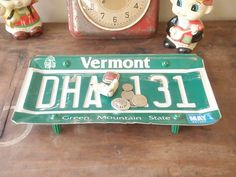 Vintage Vermont License Plate Tray - Repurposed and Upcycled - Skiing - Killington on Etsy, $12.00