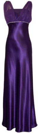 Amazon.com: Satin Chiffon Prom Dress Holiday Formal Gown Crystals Full Length Junior Plus Size: Clothing