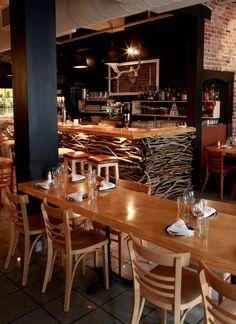 Bistro Bar Restaurant Rustic Cozy Wood Brick Design