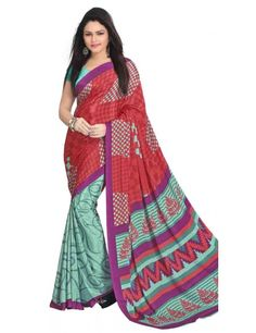 Embellish Multi Colour Printed Crepe Saree