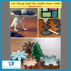 DIY And Household Tips: 101 Cheap & Chic Dollar Store Crafts