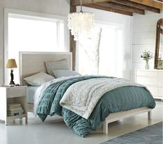 i want to fall into this bed and dream in this room.