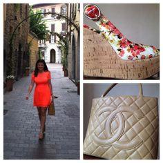 Το καινούριο μου φόρεμα στα δρομάκια του Como!!! Topshop από Αθήνα! ;) (πλατφόρμες Dolce, τσάντα Chanel)