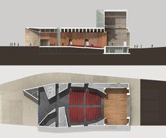 """The design for the New Theatre in Montalto di Castro has a twofold objective: it is proposed as a conceptual model for measuring the territory and at the same time it attempts to express, through architecture, the magic of a theatrical event felt by t..."