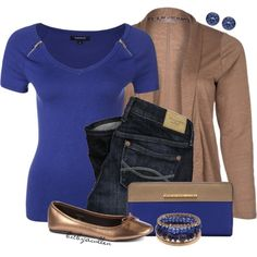 Blue & Bronze by bitbyacullen on Polyvore featuring мода, Morgan, s.Oliver, MARC BY MARC JACOBS, Sonia Rykiel and Abercrombie & Fitch