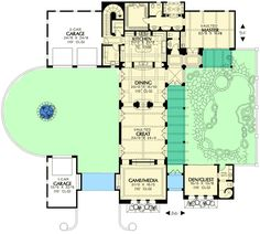 Elegant Mediterranean Home with Guest House - 16380MD | 1st Floor Master Suite, Butler Walk-in Pantry, CAD Available, Courtyard, Den-Office-Library-Study, Luxury, Media-Game-Home Theater, Mediterranean, PDF, Southwest | Architectural Designs