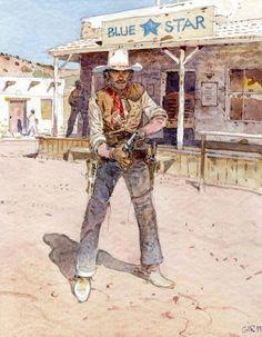 . Jean Giraud, Western Comics, Western Art, Moebius Artist, Forte Apache, Serpieri, Heavy Metal Art, War Comics, Morris