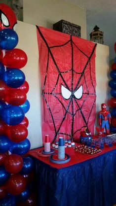 Spiderman party - Visit to grab an amazing super hero shirt now on sale! - Visit to grab an amazing super hero shirt now on sale! Avengers Birthday, Superhero Birthday Party, 6th Birthday Parties, Third Birthday, Birthday Fun, Birthday Party Decorations, Spiderman Birthday Ideas, Super Hero Birthday, Spiderman Theme Party