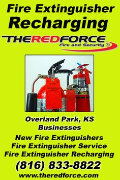 Fire Extinguisher Service (insert City) MO (816) 833-8822.. Local Missouri Businesses you have found the complete source for Fire Protection. Fire Extnguishers, Fire Extinguisher Service.. We're got you covered.. The Red Force Fire and  Security