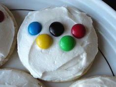 Olympic Rings M&M Cookie