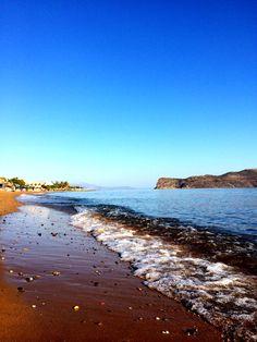 Agia Marina beach in Crete. Marina Beach, Wander, To Go, Sea, Places, Outdoor, Outdoors, The Ocean, Ocean