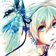 Here we have a cute Hatsune Miku anime wallpaper. She looks pretty in her gothic dress.