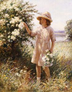 William+Kay+Blacklock+Picking+May+Blossom+m.jpg (395×500)