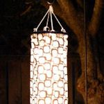 Windsock Lanterns: Nice touch for a garden party, a fabric windsock is sewn, a string of lights arranged inside then hung from a branch or plant hanger.