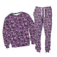 Purple Pixel Camo Sweater/T-Shirt + Joggers Combo