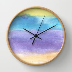 watercolor abstract painting Wall Clock by humble art by dana&reese - $30.00 Watercolor Paintings Abstract, Clock, Wall, Decor, Watch, Decoration, Clocks, Walls, Decorating
