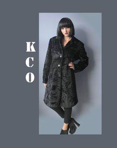 90's Vintage EXPRESS Plush Faux Fur Midi Coat by KatrajinaCo, $74.00