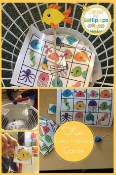 $2.00 #phonics #alphabet   Phonics: Lowercase/Capital Letter and Beginning Sound Match-Up Game Fishy, Fishy in the Brook Fishy, Fishy, in the Brook is a game that can be differentiated for different groups of children to meet their needs. The packet conta