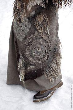 "Купить Арт-пальто №1 ""Коты, Шаманы"" - пальто, пальто валяное, пальто из шерсти"
