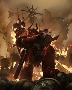 [Sci-Fi] - [digitalart/paintings/scifi] - Games Workshop Codex: Crimson Slaughter - by: ukitakumuki