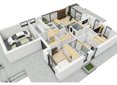 Simon III G2 energo - zdjęcie 5 Beautiful House Plans, Beautiful Homes, Modern Bungalow House, Weekend House, Shoe Rack, Projects To Try, Shelves, House Design, How To Plan