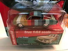 Auto World Premium - 1964 Plymouth Barracuda - Factory Colored Swatches Plymouth Barracuda, Diecast Model Cars, Expensive Cars, Hot Wheels, Lightning, Muscle, Usa, Toys, World