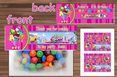 Adorable Favor Bag Toppers for Shopkins Birthday Party, Shopkins Birthday Party favor, PDF. Shopkins Favor Bag Toppers - this excellent decorative 6th Birthday Parties, Birthday Party Favors, Birthday Party Decorations, 7th Birthday, Birthday Ideas, Shopkins Bday, Jojo Siwa Birthday, Bag Toppers, Birthdays