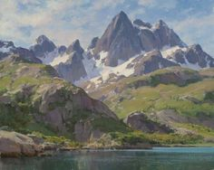 "Artist: Clyde Aspevig American Painter.""LANDSCAPES"""
