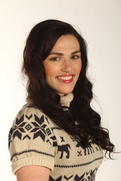 """""""I want to have a little toy version of Morgana. I can then show it to my grandchildren one day. So I can say I used to have a waist."""" --Katie McGrath. O my gosh I love her!"""