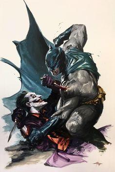 DC Comics – Batman Vs Joker - Signed Lithograph By Gabriele Dell'Otto – Exclusive London Super Comic Con Limited Edition – Art Du Joker, Le Joker Batman, Lego Batman, Batman Robin, Joker Comic, Batman Metal, Joker Dc Comics, Venom Comics, Batman Comic Art
