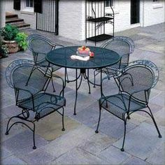 Vintage meadowcraft wrought iron furniture
