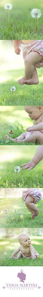 Fun outdoor baby portraits.