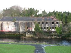 Derelict factory building part of The Old Bleach Spinning Mill situated on the east bank of the River Maine. A Level Art, Places Of Interest, Northern Ireland, Castles, Bleach, Old Things, Building, Image, Chateaus