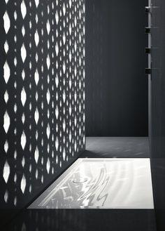 Flush fitting ceramic #shower tray IMPRONTA by @Ceramica Catalano | #design Massimiliano Fuksas, Doriana Fuksas