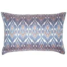 Blue Silk Ikat Pillow