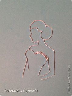 Картина панно рисунок Квиллинг Невеста Бумажные полосы фото 2